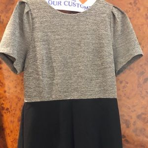 Knee length Black/Gray dress size6- Loft